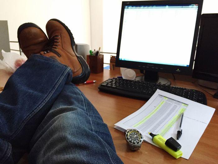 Working Job Relax Office Legs Feets Rest Listless