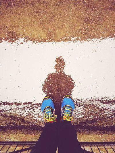 Paris Rain Reflection Mirror Narcissism Selfportrait Distortion Shoes