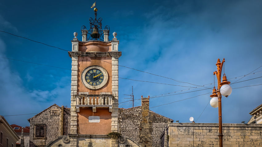 Clock Tower of People's Square in Zadar, Croatia Croatia Sightseeing Square Zadar Zadar,Croatia Blue Building Building Exterior Buildings City Clock Clock Tower Cloud - Sky Clouds Clouds And Sky Culture Hisotry Historical No People Sights Sky Tower