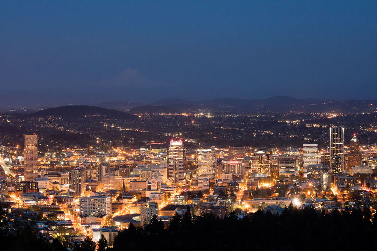 City City Life Cityscapes Cityscapes_collection Clear Sky High Angle View Illuminated Mountain Mountain Range Nightlights Nightphotography PNW Portland Oregon Travel Destinations Travel Photography Traveling