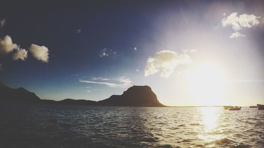 Water Sky Sea Beauty In Nature Tranquil Scene Scenics Sunlight Outdoors Sunbeam No People Sun Day Lemorne