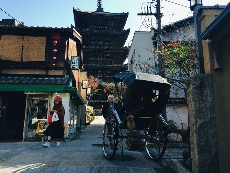 Kyoto Kyoto,japan Japanese  Japan Japan Photography Japanese Culture Streetphotography Street Streetphoto_color Pepole Rickshaw 人力車 京都 Vscocam VSCO IPhoneography From My Point Of View