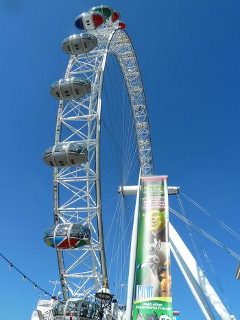 Postcode Postcards Amusement Park Amusement Park Ride Arts Culture And Entertainment Blue Clear Sky Day Ferris Wheel Leisure Activity Low Angle View No People Outdoors Sky