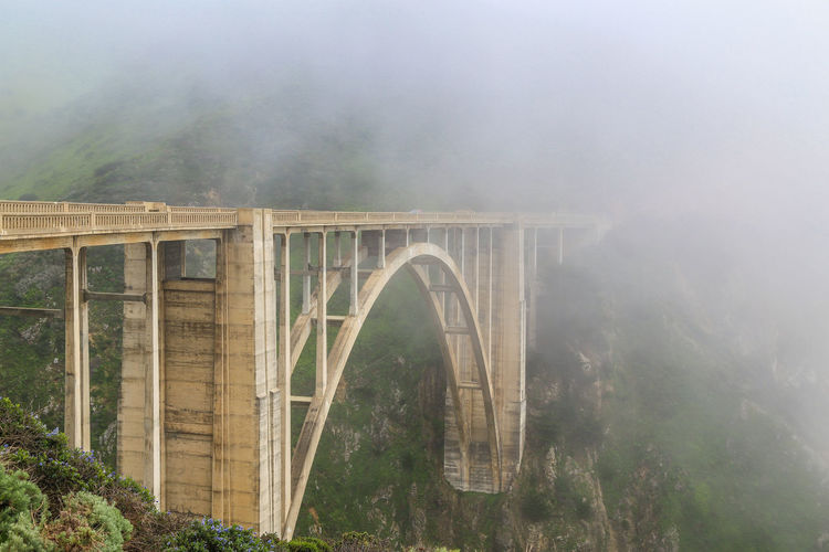 big sur bridge Monterey Arch Arch Bridge Architecture Big Little Lies Big Sur Bridge Bridge - Man Made Structure Built Structure Connection Day Fog Forest Land Landmark Nature No People Non-urban Scene Outdoors Plant Tranquility Transportation Tree