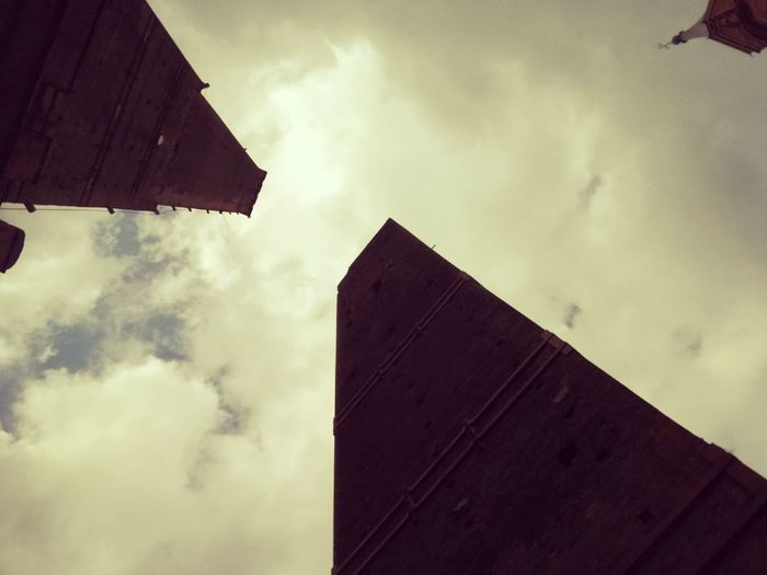Cloud - Sky Sky Low Angle View Built Structure Overcast No People Outdoors Building Exterior Architecture Day Thunderstorm Tower Two Towers Italy EyeEmBestPics Travel City EyeEm Gallery EyeEm Best Shots Culture Sunlight
