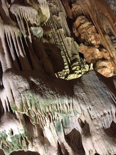 Rock Formation Textured  Low Angle View Cave Stalactite