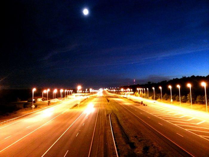 Good night my stunning friends ;') Fun Roads Moon Night Lights EyeEm Best Shots