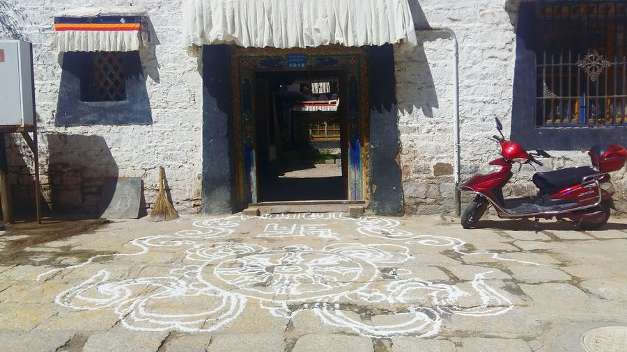 Tibet Lhasa 201708 Temple House Hot Sunny Picture Beauty