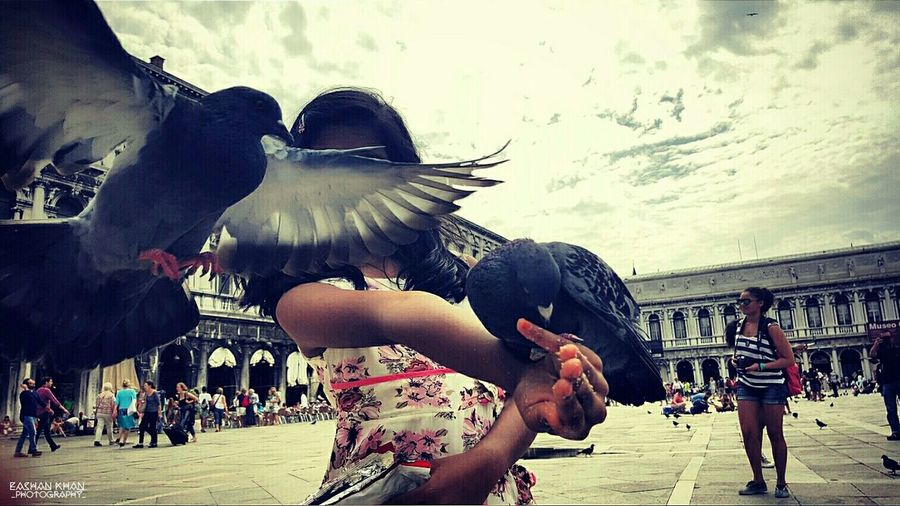 Venice, Italy Capture The Moment Pigeons My Little Sister ♡ Beautiful Day Eyem Best Shots Smartphonephotography