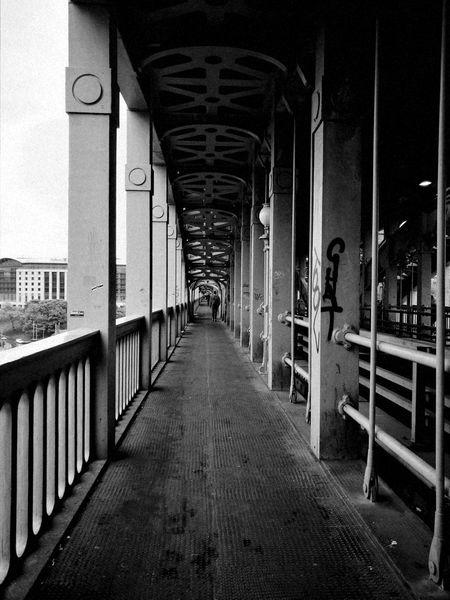 High Level Bridge Railway Bridge River Tyne, Historical Engineering Historical Engineering Iron Pedestrian Pedestrian Walkway Girder Bridge Robert Stephenson 1849 Graffiti Black And White The Street Photographer - 2017 EyeEm Awards The Architect - 2017 EyeEm Awards