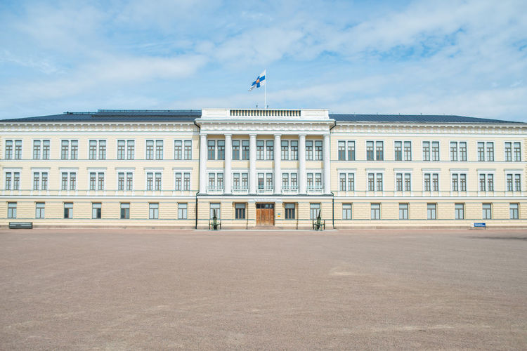 Hamina Cadet School Classic Architecture Perspective Square Architecture Building Exterior Built Structure Cloud - Sky Columns And Pillars Day Finnish  Military No People Outdoors Politics And Government Public Places School Sky Skyscraper