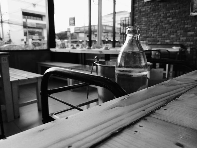 Resturant Ice Bucket Black & White Bottle Of Water Tables