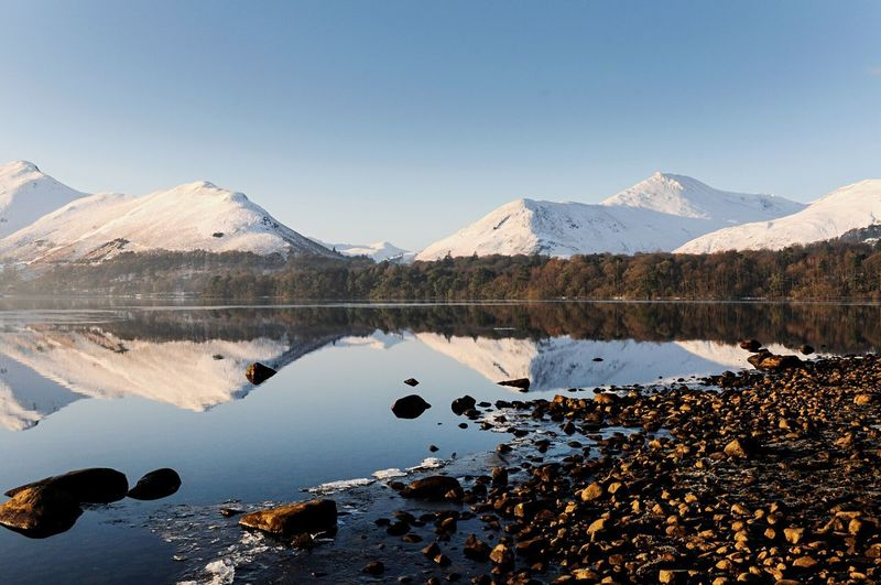 Reflections are only worth their salt based on what is being reflected. As you will have seen from previous posts, the shores of Derwent Water provide a spectacular backdrop and seeing double is awe inspiring. Mountain Reflection Scenics Tranquil Scene Winter Wintersun Lakedistrict Derwentwater