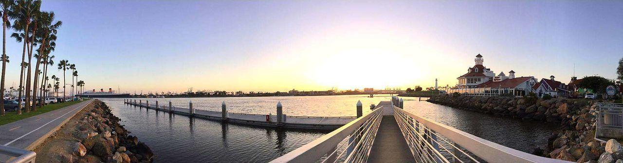 Panoramic Water City Long Walkway Travel Destinations Sky Outdoors Clear Sky Long Beach, California USA