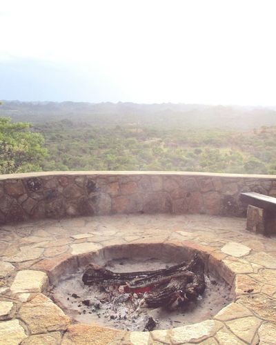 Firepit Fire World View Terrace MatopoHills Zimbabwe Burning Logs