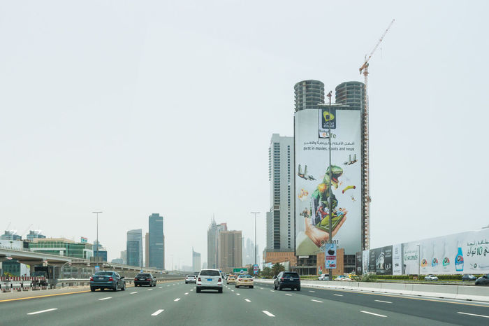 Marina Dubai Architecture Built Structure Building Exterior City Car Sky Transportation Motor Vehicle Road Mode Of Transportation Clear Sky Building Tower Skyscraper Nature Land Vehicle Office Building Exterior Day No People Sign