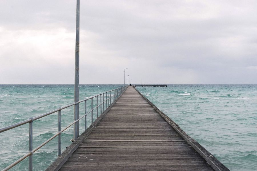 It was a cold cold day. Sea Horizon Over Water Sky Water Pier Cloud - Sky Tranquil Scene Scenics Tranquility Nature Beauty In Nature Jetty The Way Forward Day No People Wood - Material Outdoors Wood Paneling The Week On EyeEm Investing In Quality Of Life