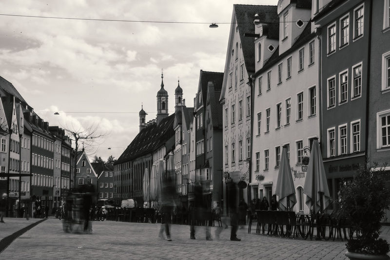 The main center / market place of Landsberg Architecture Bnw Building Exterior Built Structure City Citylife Cloud - Sky Day EyeEm Best Shots Landsberg Am Lech  Large Group Of People Lech Long Exposure Medieval Medieval Architecture Outdoors People Real People Sky Urban