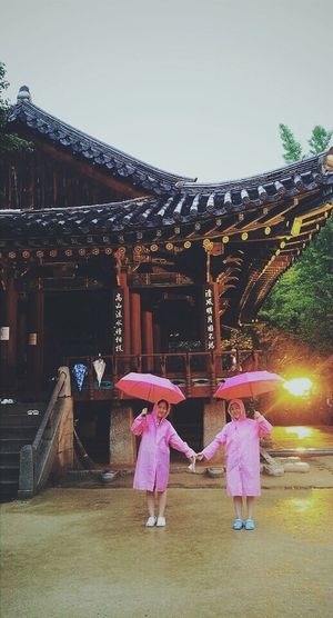 In Jeonju With My Friend Had Fun Tasty Foods Rainy Days Pink
