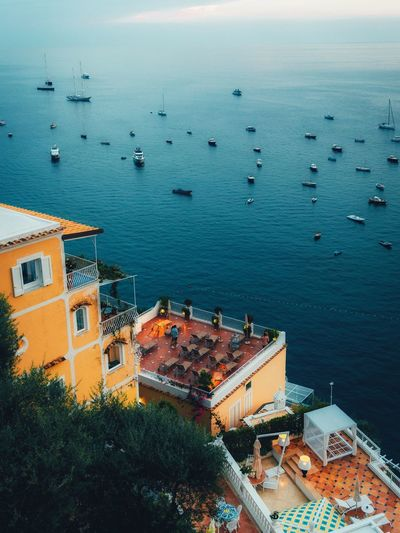 Color palette. Italy Water Building Exterior Architecture Built Structure High Angle View Sea City Travel Destinations Residential District No People Mode Of Transportation Day Building Travel Nautical Vessel Outdoors Nature Transportation Sky Roof