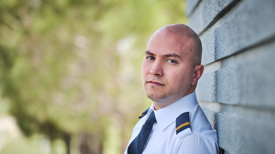 Portrait One Person Headshot Real People Lifestyles Looking At Camera Males  Focus On Foreground Adult Day Men Looking Mid Adult Mid Adult Men Leisure Activity Front View Clothing Young Adult Outdoors Menswear Contemplation Cadet Pilot Pilot Pilotlife Cadet Training Student