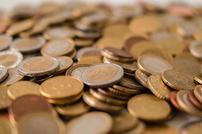 Euro coins. 2 Euro Coin Close-up Coin Coins Currency Euro 2016 Euro Currency Europe Euros Finance Financial Item Investment Metal Money Money Savings