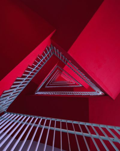Red Architecture Triangle Shape Pattern Shape Built Structure No People Geometric Shape Design