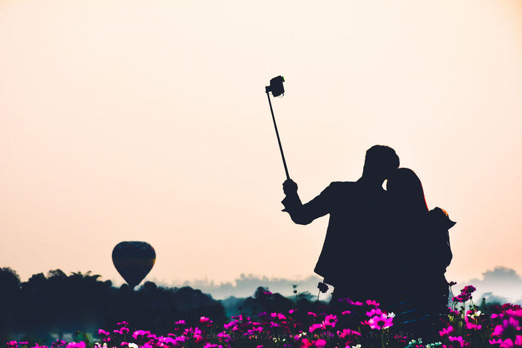 ASIA Chiang Rai Copy Space Girl Landscape Lifestyles Love Men Mountain Outdoors Photography Romantic Self Portrait Selfie Silhouette Sun Sunset Thailand Women