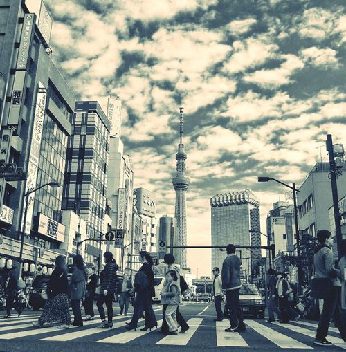 Streetphotography Blackandwhite Streetphoto_bw Tokyo Skytree