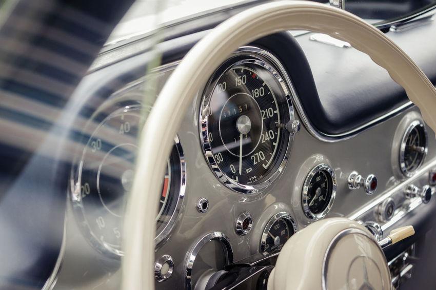 Elegance and decadence ... EyeEmNewHere Mercedes Mercedes-Benz Car Car Interior Cockpit Land Vehicle Retro Styled Speedometer Technology
