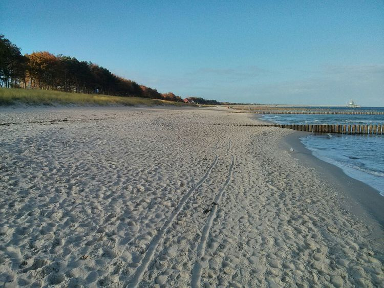 ein ganzer Strand für mich Meer Strand Sunshine