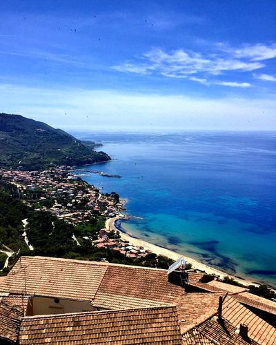 🦅 Cilento Castellabate Italy Italia Sea Water Horizon Over Water Beauty In Nature Scenics High Angle View Nature No People Sky Architecture Day Built Structure Outdoors Building Exterior Cloud - Sky Blue