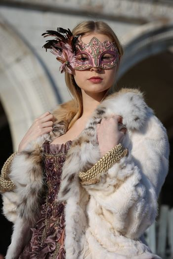 Mary My Daughter Carnival Carnival Crowds And Details Venice Girl Young Adult Young Women Real People Costume Mask Holiday Canonphotography Colors Dress Walking Around Street Photography Outdoors San Marco San Marco Square Italy
