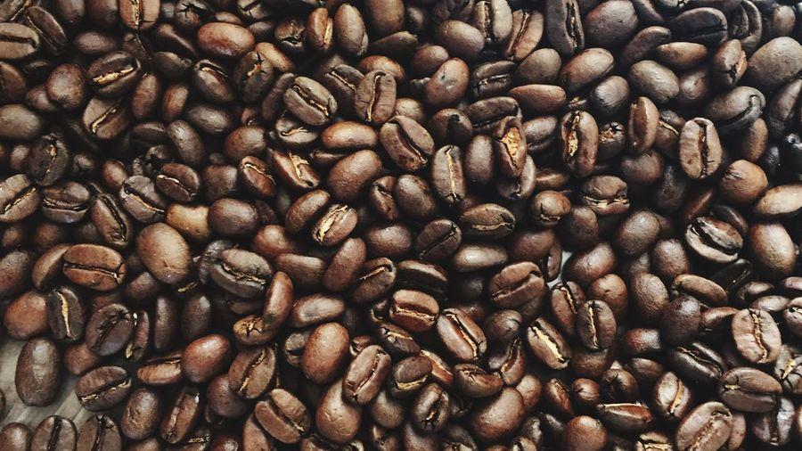 Full Frame Shot Roasted Coffee Beans