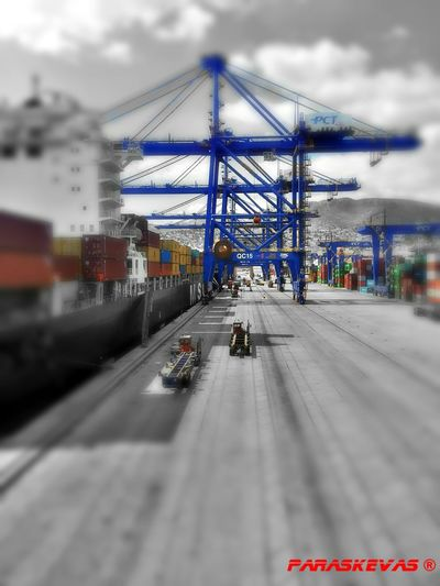 Container Port Container Crane Port Of Piraeus Container Ship