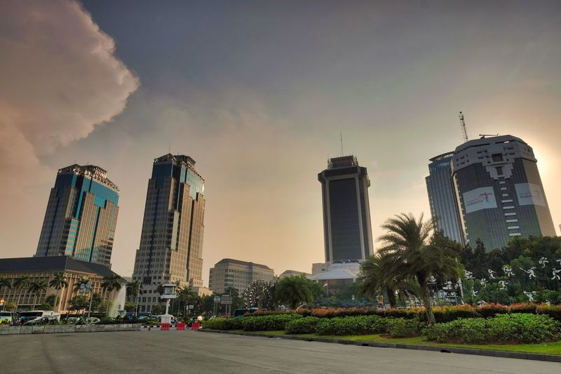 Jekardah Building Exterior Architecture Built Structure Sky City Office Building Exterior Building Cloud - Sky Nature Skyscraper Plant Tall - High No People Modern Tower Outdoors Office Travel Destinations Cityscape Day