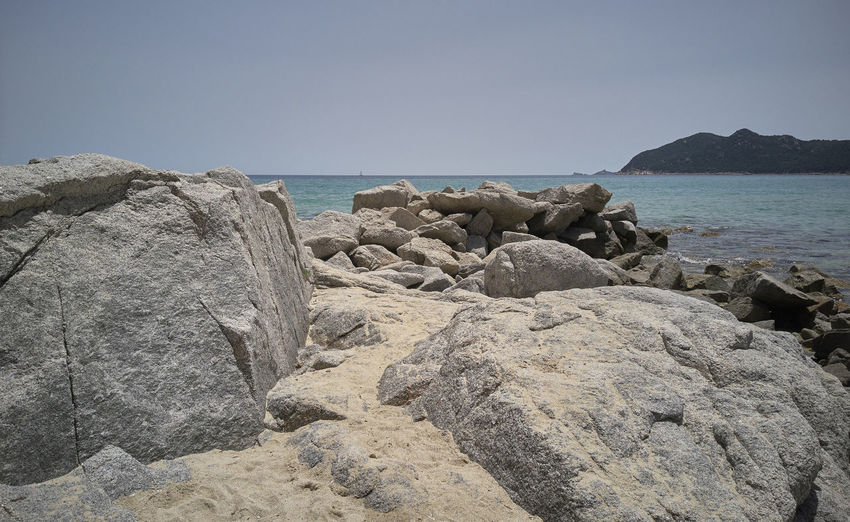 Beach Beauty In Nature Clear Sky Day Horizon Horizon Over Water Land Nature No People Rock Rock - Object Rock Formation Rocky Coastline Scenics - Nature Sea Sky Solid Tranquil Scene Tranquility Water