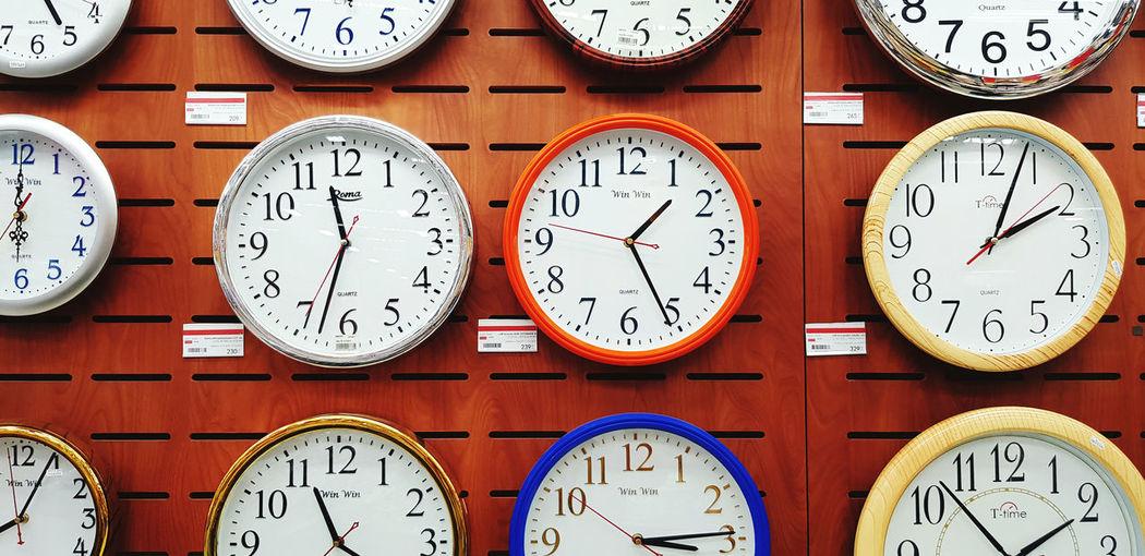 Full frame shot of clock on wall