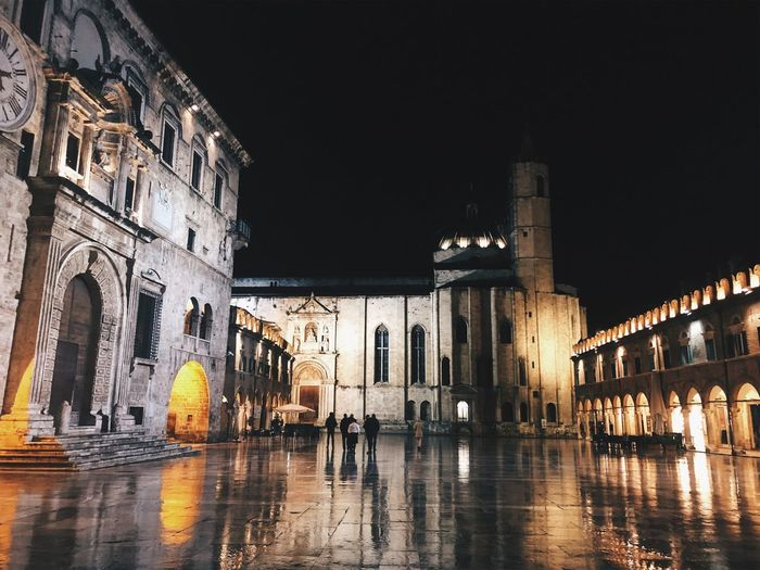 Ascoli Piceno Nightphotography Night Ascoli Piceno Architecture Built Structure Night Building Exterior Illuminated Water Building Travel Destinations History City The Past Travel Reflection Arch Sky Waterfront Nature