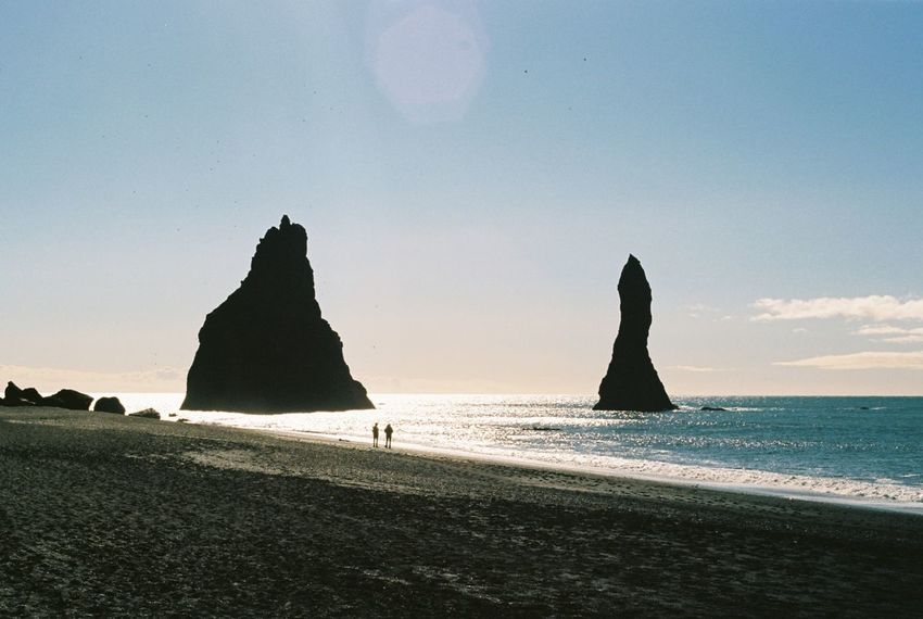 Analogue Photography Iceland Lost In The Landscape Beach Beauty In Nature Clear Sky Day Filmisnotdead Horizon Over Water Nature No People Outdoors Sand Scenics Sea Shore Silhouette Sky Tranquil Scene Tranquility Water