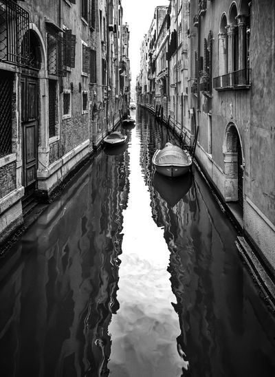 Venezia City Perspective D800 Italy 🇮🇹 Built Structure Simmetrical Reflections In The Water Reflections Italy❤️ Italy Windows And Doors Architecture Building Exterior Travel Destinations Tranquility Lines No People Water Water Reflections Reflection Reflection_collection Reflections And Shadows Reflection Photography Venice Black And White Friday