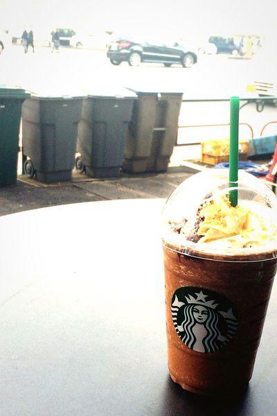 チョコレートオランジュモカフラペチーノ。 EyeEm OneCam At Starbucks