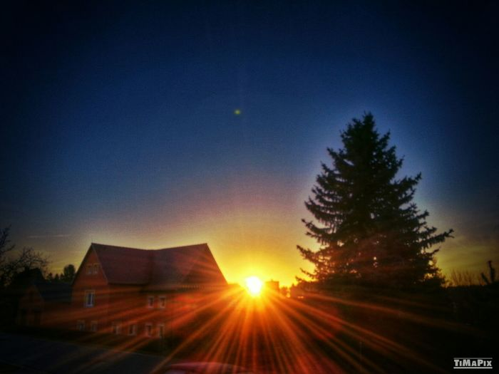 HDR Sunrise Beautiful Saxony