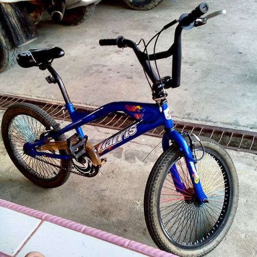 :: my 'old' beloved BMX bicycle.. Haha. Its been a long time. Time to take a spin at Kudat soon@2016! Haha Happynewyear Unmodifiedbike