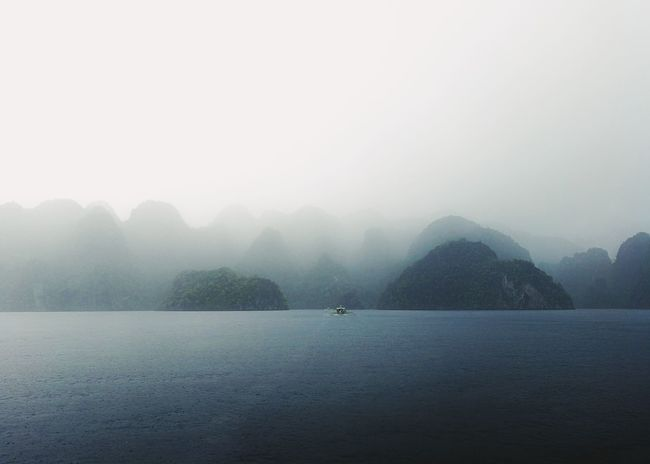 Fog Water Outdoors No People Tree Nature Beauty In Nature Cold Temperature Day Sky Sommergefühle Landscape Rain Coron, Palawan Eyeem Philippines Boat EyeEm Selects Lost In The Landscape