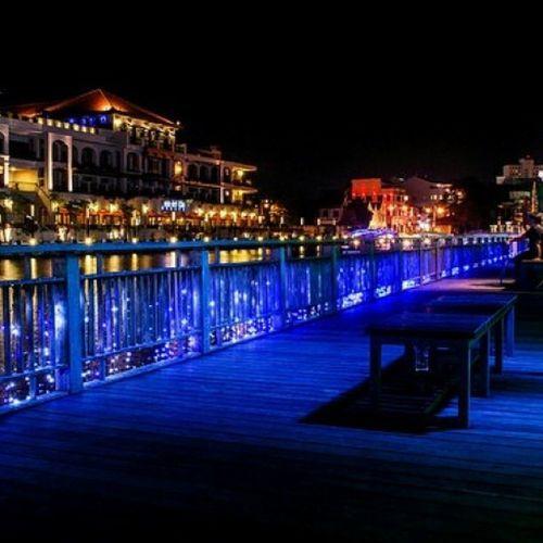Melaka Malacca Scenery Night Lights River Malaccaboatcruise Malaccariversidehotel Hotel