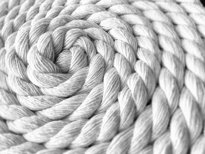 Full frame shot of woven rope