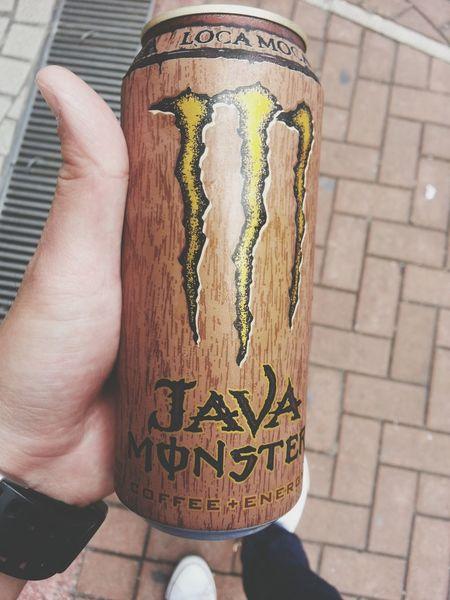 Monster Java Coffee Energy Drink Drinking Coffee Drink Up