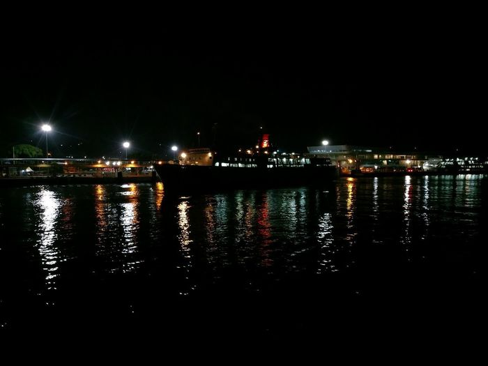 Night view Landscape Ship Light Shipping  City Water Illuminated Reflection Arts Culture And Entertainment River Sky Architecture Building Exterior Built Structure EyeEmNewHere