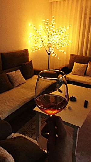 Glass Of Wine Rosé Romantic Indoors  Home Interior Wineglass No People Illuminated Wine Drinking Glass Drink Living Room Close-up Freshness Day Visual Feast